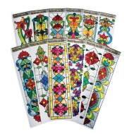 Vertical Stained Glass Window Clings