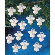 Littlest Angel Holiday Beaded Ornament Kit (Pack of 24)