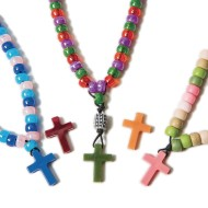 Semi-Precious Colored Cross Pendants