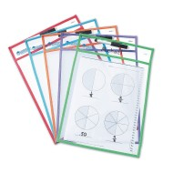 Dry Erase Write and Wipe Pockets
