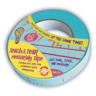 Teach and Tear Measuring Tape