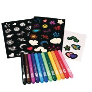Velvet Art Stickers Craft Kit (Pack of 12)