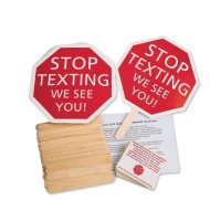 Stop Texting Sign, Unassembled