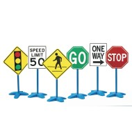 Self Standing Traffic Signs for Safe Play