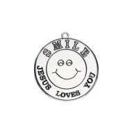 """Jesus Loves You"" Smile Face Sun Catcher"
