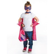 Pink Super Hero Dress Up Cape And Accessories