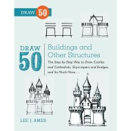 Draw 50 Buildings And Other structures Book