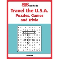 Travel the USA Puzzles, Games and Trivia Book