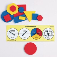 Attribute Spinners for Math Manipulatives (Pack of 6)