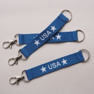 USA Lanyard Keychains (Pack of 12)