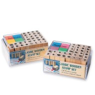 Wood Alphabet Stamps (Pack of 64)