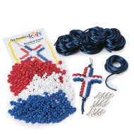 Patriotic Beaded Cross Kit (Pack of 12)