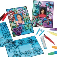 Flower and Butterfly Sun Catcher Photo Frames Craft Kit