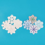 Color-Me™ Embossed Snowflake Ornaments (Pack of 12)