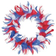 Patriotic Feather Wreath