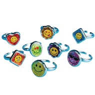 Emoji Rings Value Pack (Pack of 72)