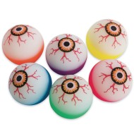 Glow In The Dark Evil Eye High Bounce Balls (Pack of 12)
