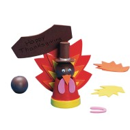 Foam Turkeys Craft Kit (Pack of 12)