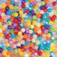Colorful Resin Cat's Eye Beads, 1/2-lb Bag