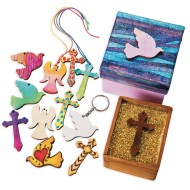 Christian Shaped Unfinished Wood Pendants