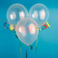 Jeweltone Balloons, Diamond Clear, 11