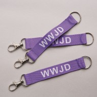 WWJD Lanyard Keychains (Pack of 12)