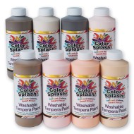 Color Splash!® Multicultural Washable Tempera, 16 oz. (Pack of 8)