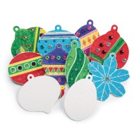Color-Me™ Holiday Ornaments (Pack of 48)