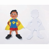 Super Hero Super Paper Shapes