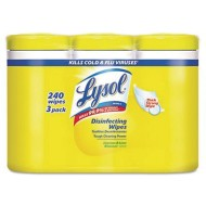 Lysol Disinfecting Wipes Canister (Pack of 3)