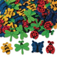 Color Splash!® Foam Shapes w/ Adhesive – Bugs and Butterflies