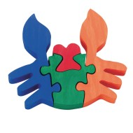 Wooden Crab Puzzle Craft Kit (Pack of 12)