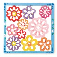 Floral Wood Trivet Craft Kit