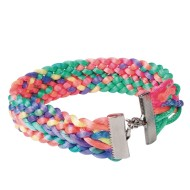 Neon Woven Bracelet Craft Kit (Pack of 30)