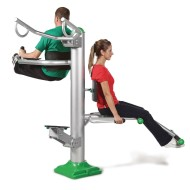 Outdoor Tri-Fitness Exercise Station