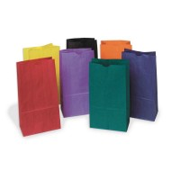 Colored Kraft Bags, Pack of 28