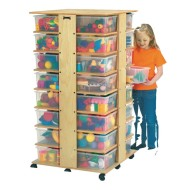 32 Cubbie Tower with Clear Tubs