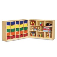 Jonti-Craft® 25 Tray Cubbie Fold-n-Lock with Color Trays