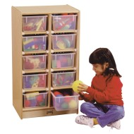 10-Tray Cubbie with Clear Trays