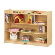 Jonti-Craft® Adjustable Mobile Straight-Shelf Bookcase Lip