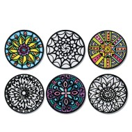 Velvet Art Hangable Mini Mandalas (Pack of 24)