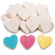 Wooden Hearts (Pack of 25)