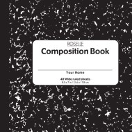 Soft Cover Composition Book