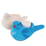 Color-Me™ Ceramic Bisque Bird Tealight (Pack of 12)