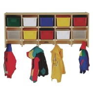 Coat Locker With Color Trays