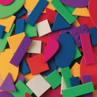 Color Splash!® Foam Shapes with Adhesive