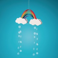 Foam Rainbow Mobiles Craft Kit (Pack of 48)