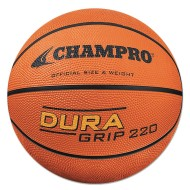 Champro® Dura-Grip 220 Rubber Basketball, Official Size