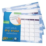 GoWrite!® Dry-Erase Calendar (Pack of 3)