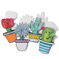 Color-Me™ Cactus Clip Bookmarks (Pack of 24)